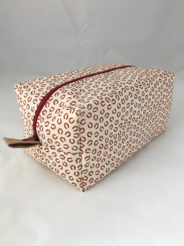 Red & White Horseshoes Zippered Bags