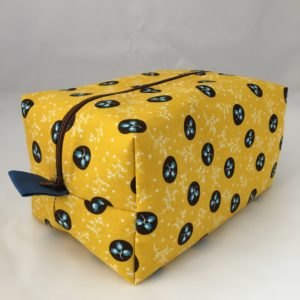 Black & Yellow Zippered Bag