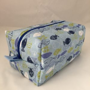 Blue Fish Zippered Bag