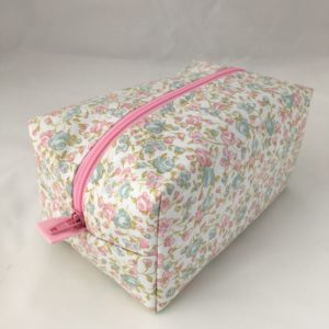 Pink Flowers Zippered Bag