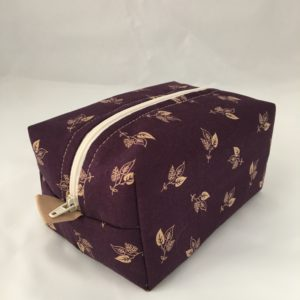 Burgundy Leaves Zippered Bag